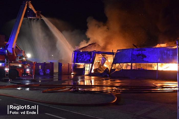 Brand bij Plantenkwekerij P. Mostert