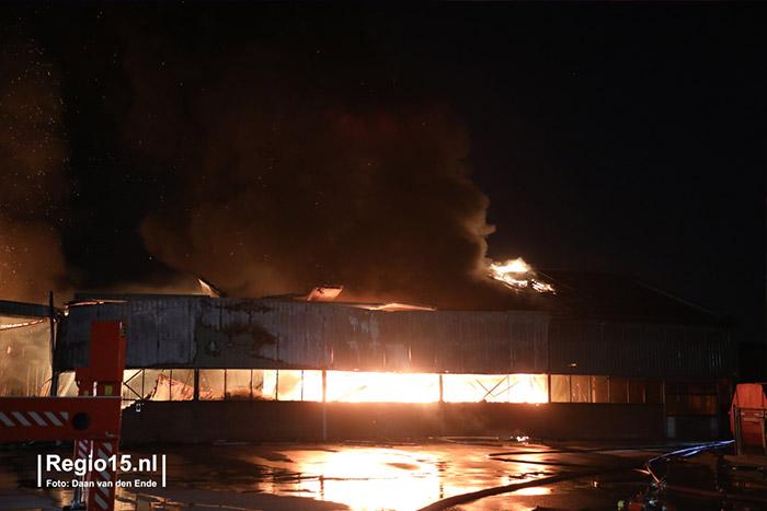 Brand bij Plantenkwekerij P. Mostert, 2018