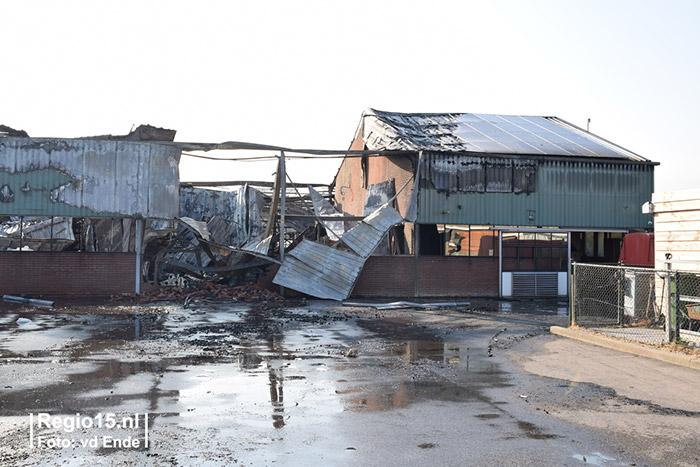 De dag na de brand bij Plantenkwekerij P. Mostert